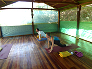 Yoga In class in Peru, South America